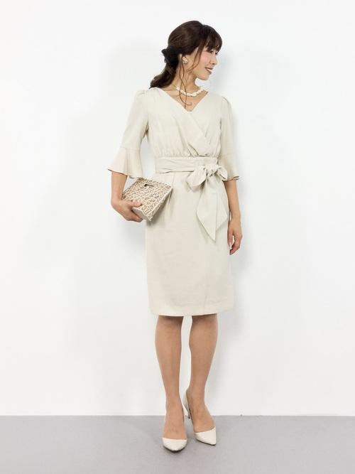 [GIRL] 【結婚式・お呼ばれ対応ワンピースドレス】リボンベルト&ロングスカート付き3点セットワンピース・パーティードレス
