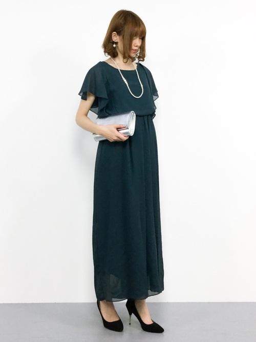 [kana] 【結婚式・お呼ばれ対応パンツドレス】ワイドパンツのオールインワンドレス
