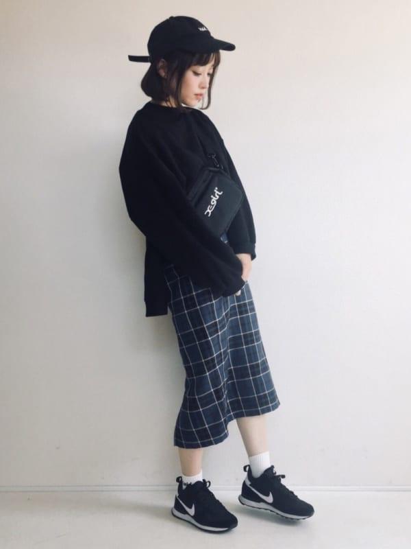 チェック柄スカート9