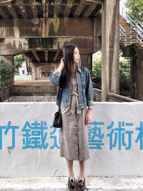 【ローファー】の大人可愛いファッション2