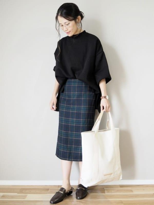 チェック柄スカート2
