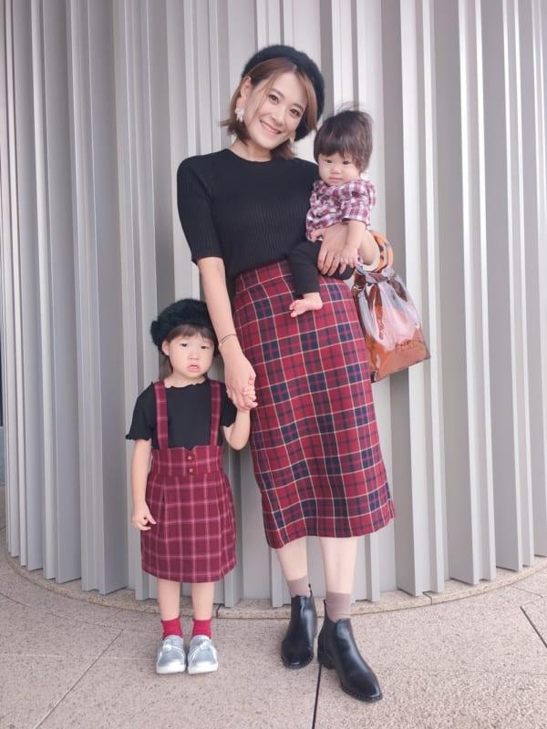 チェック柄スカート6