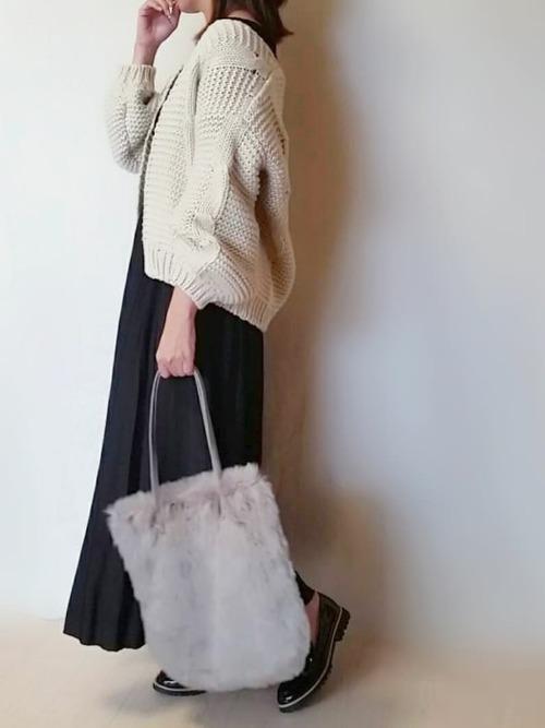 【ローファー】の大人可愛いファッション1