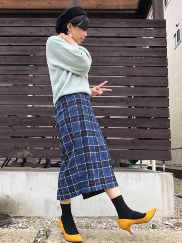 チェック柄スカート8