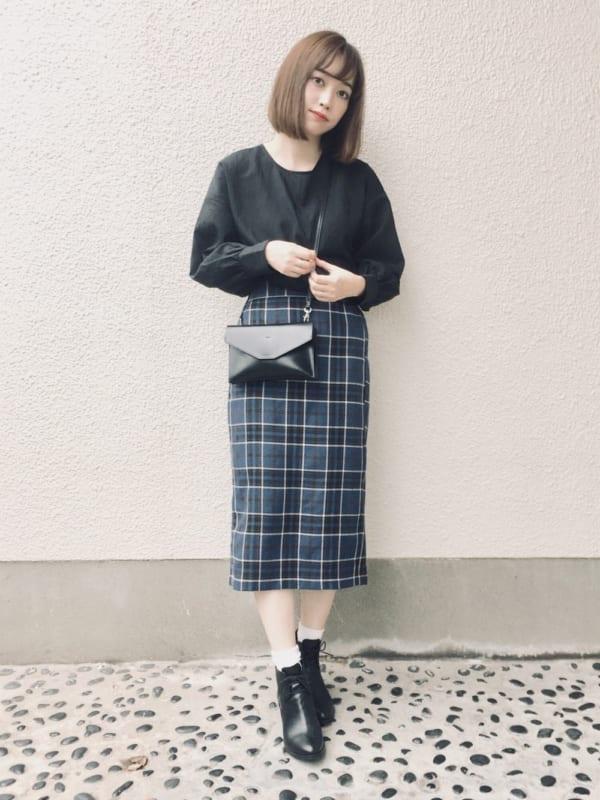 チェック柄スカート10