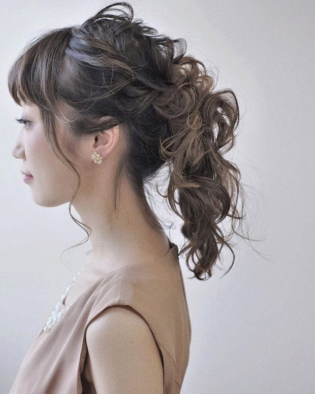 短い前髪のポニーテール7