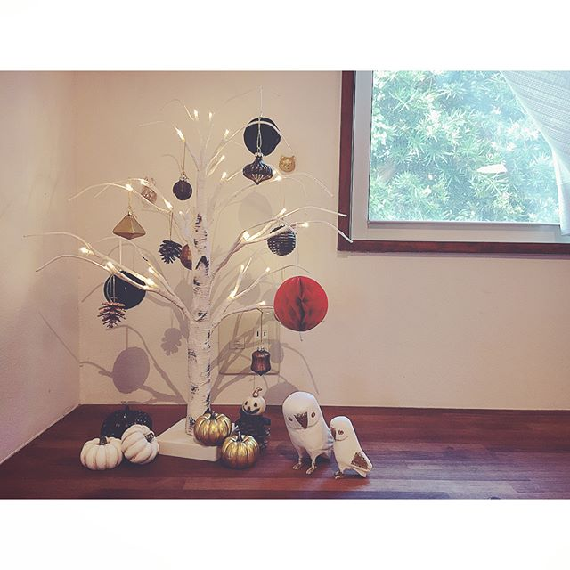 白樺ウッドのLEDツリー2