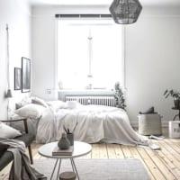 クリーンで明るいベッドルームインテリア☆ホワイトを主体にしておしゃれな空間に!