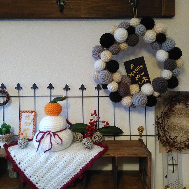 編み物鏡餅