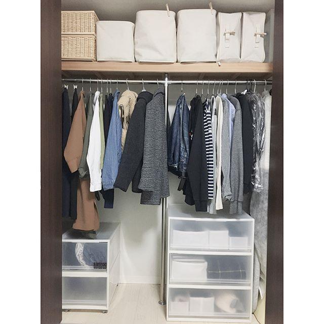 クローゼットでの衣類収納に使えるアイテム5