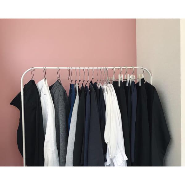ハンガーラックを使った洋服収納2