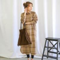 【ALL6,000円以下】秋の大人女子オフコーデ☆『ブラウン系ワンピース』15選