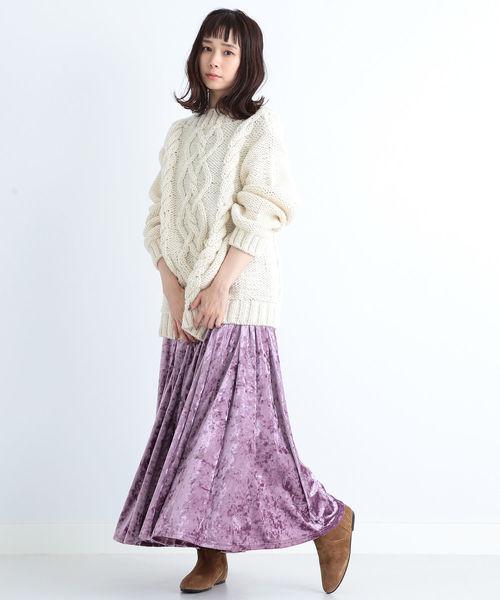 ベロア ロングスカート2