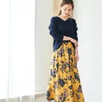 花柄スカート着まわし♡普段のコーデのポイントに!花柄スカートを取り入れたコーデ15選☆