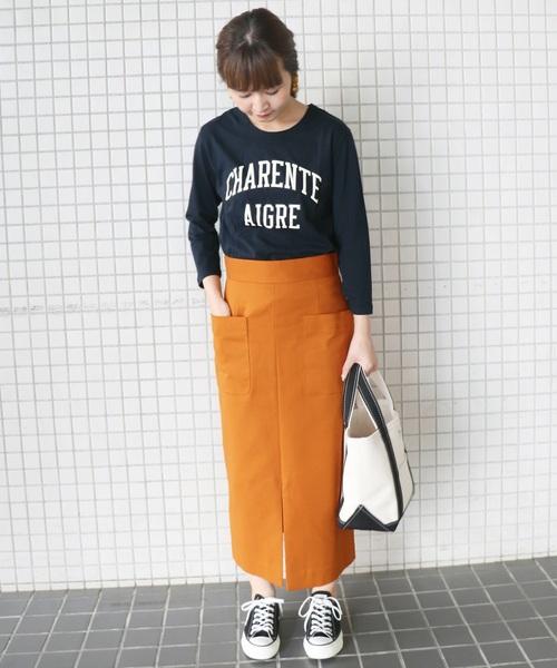 ダブルクロスサイドポケットスカート