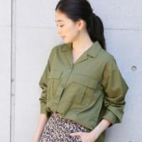 一枚でたくさん着回せる♪この秋オススメのミリタリーシャツ&ワンピースをご紹介