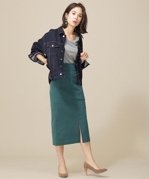 ストレッチIラインスカート