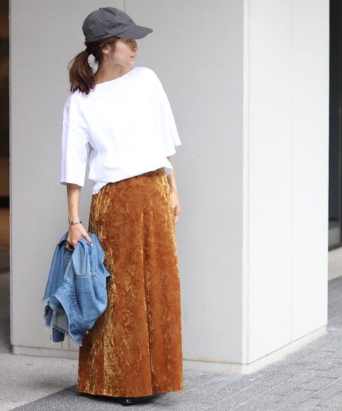 ベロアロングスカート1
