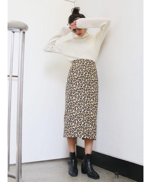 レオパードタイトスカート4