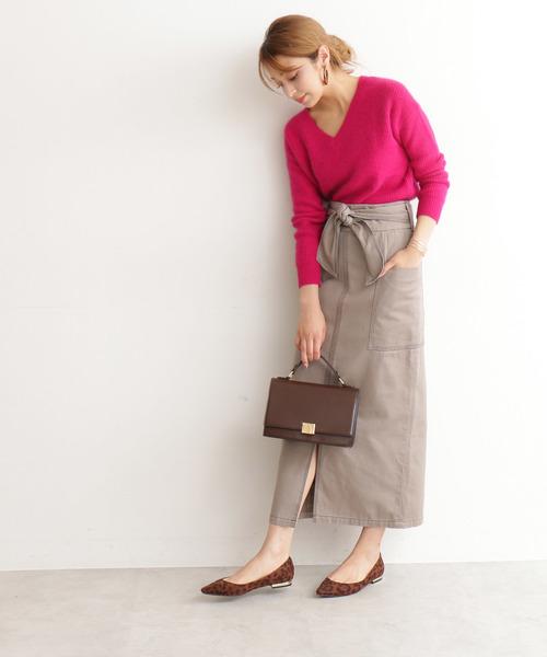 ◆ステッチワークロングタイトスカート