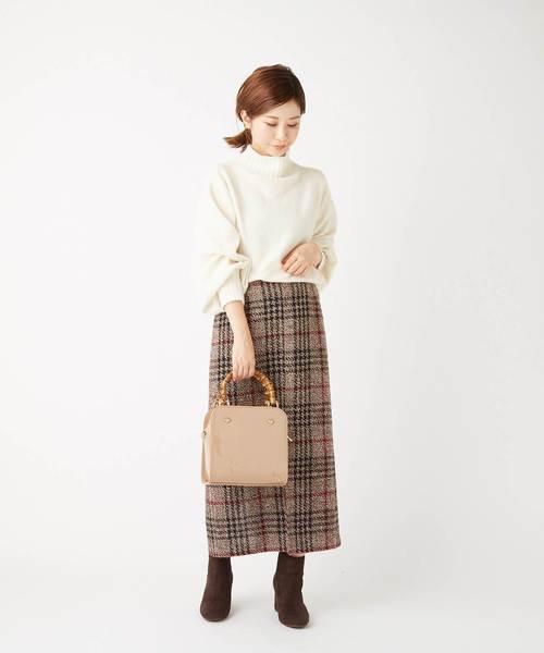 チェック柄のロングスカート2