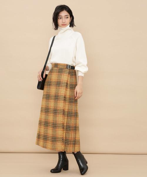 Lovatチェックラップスカート