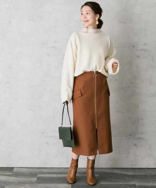 フロントジップタイトスカート