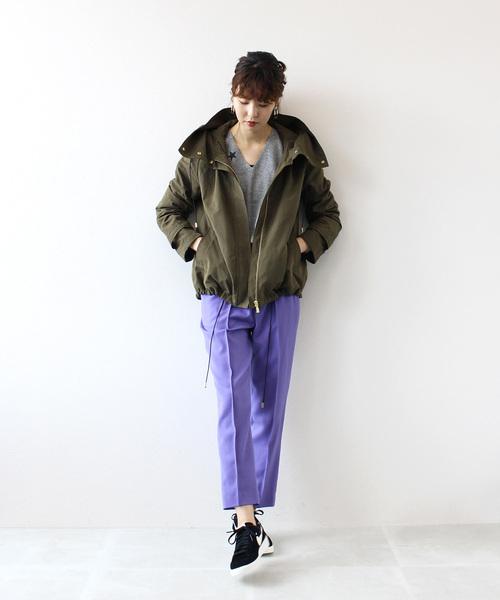 hooded military short blouson(フーデットミリタリーショートブルゾン)