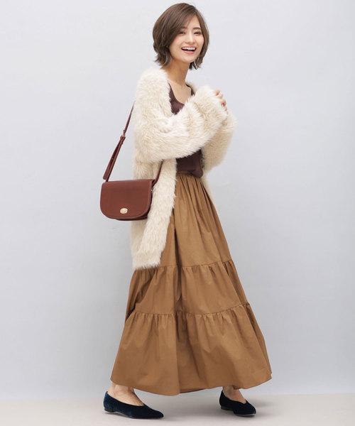 2段ティアードマキシスカート