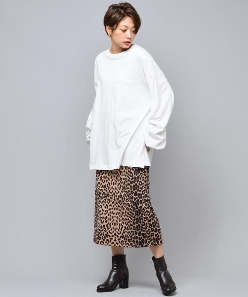 ヒョウ柄タイトスカート