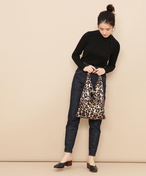 レオパード柄スカーフ巾着バッグ