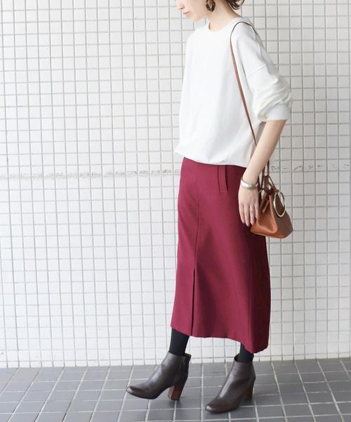 ウーリッシュフラノサイドポケットスカート◆