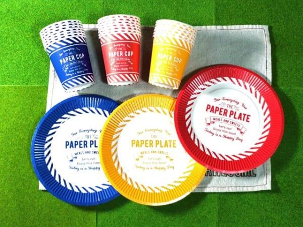 定番の紙皿&紙コップ