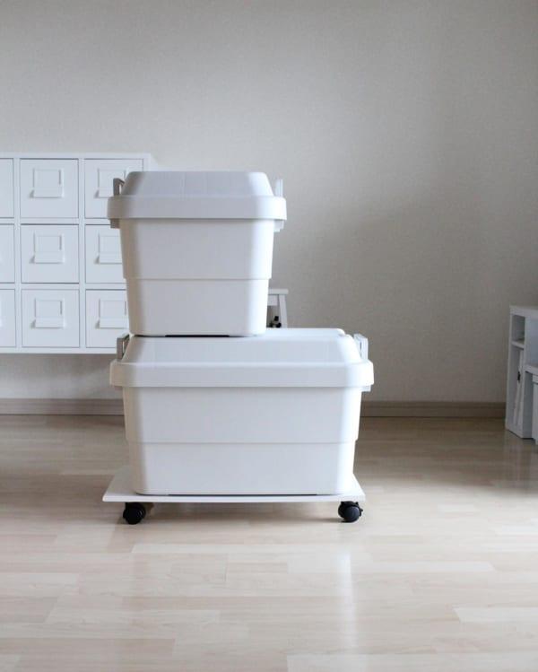 屋外でも使える、備えの保管ボックス。