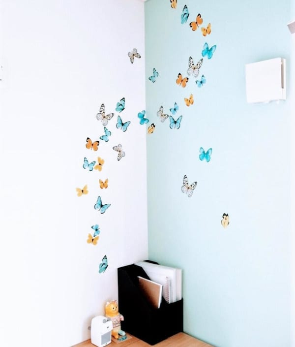 蝶のウォールステッカー