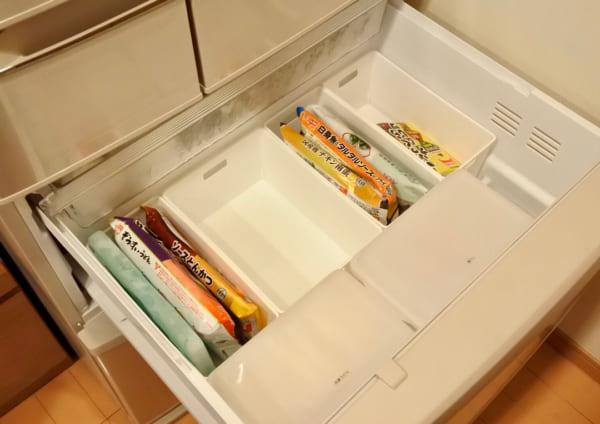 冷凍庫の収納に
