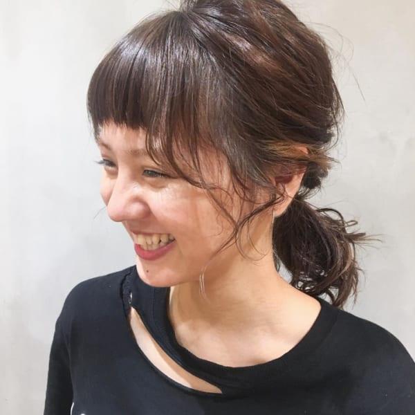 ぱっつん前髪のアレンジヘア18