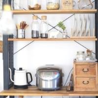 見せる収納をしよう☆キッチンのオープンシェルフのディスプレイ実例集