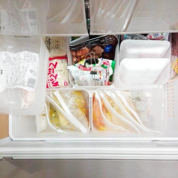 冷蔵庫の「冷凍庫・野菜室」の収納に使おう!