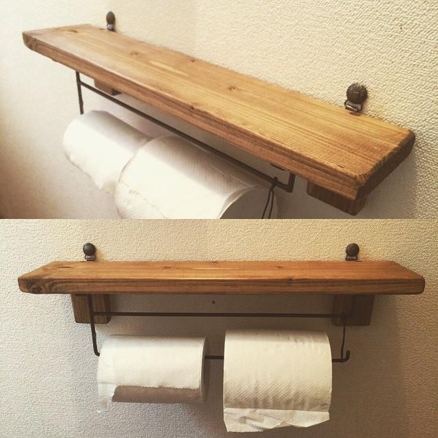 棚つきトイレペーパーホルダー