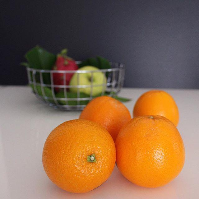 果物を飾っても