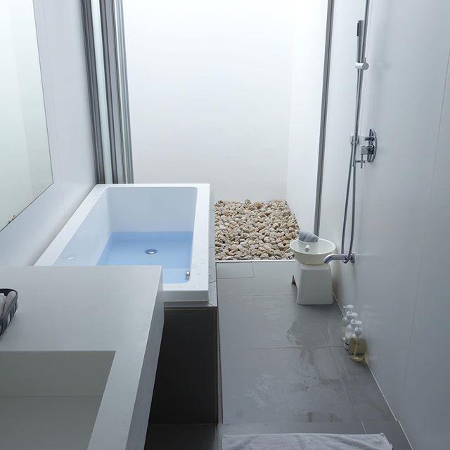 お家で露天風呂気分が楽しめるバスルーム