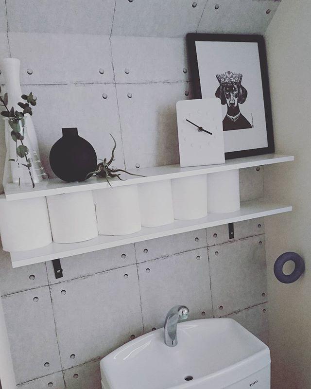 トイレの隙間空間を利用して収納