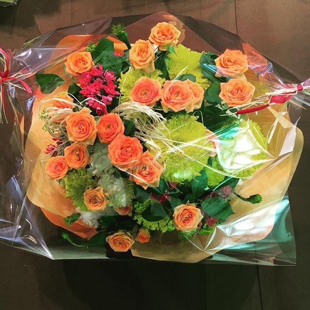 花をもらった時1