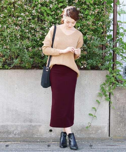 ◆レディース人気ランキング1位獲得◆ウエストゴムリブスウェットスカート