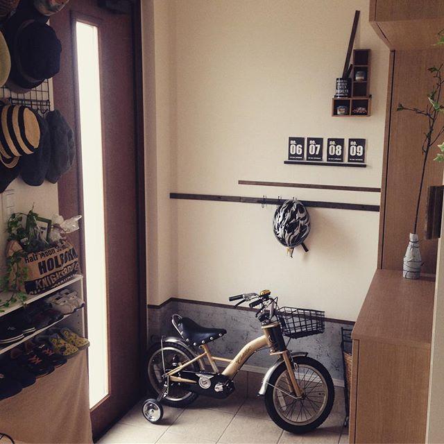 子供用自転車は小物の収納と一緒に3