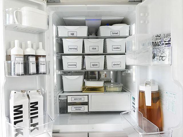お揃いケースですっきり!見せられる冷蔵庫に2