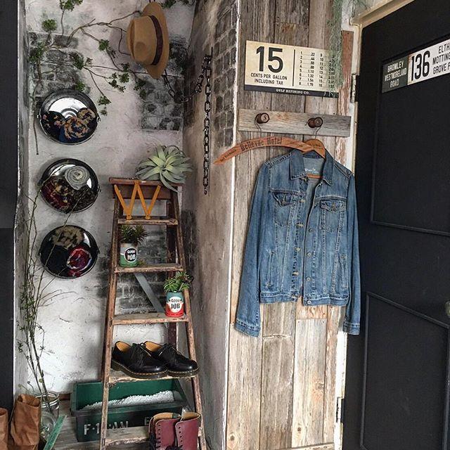 ヴィンテージ風の玄関