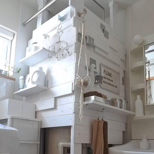 洗濯・洗面スペースで2