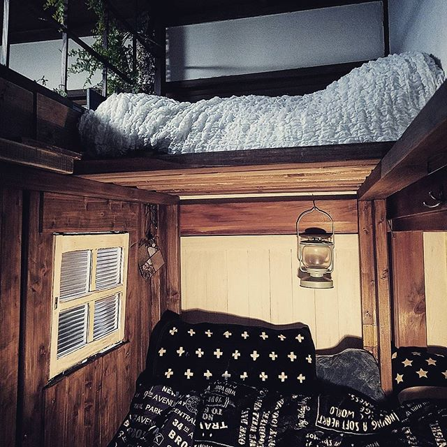 DIYでロフトベッド